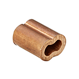 Copper Duplex Oval Swage Sleeve