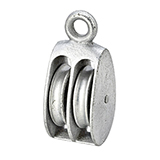 Cast Iron Rigid Double Pulley Zinc Plated